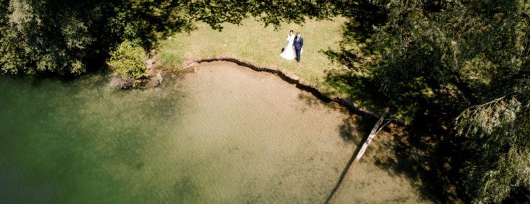 Hochzeitsportraits - Drohnenfotografie