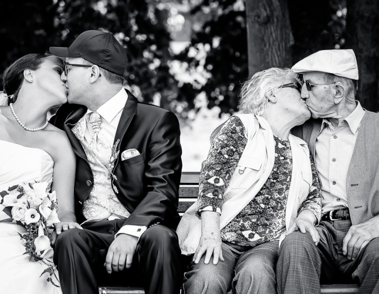 Echte Liebe - der Kuss ist zeitlos!